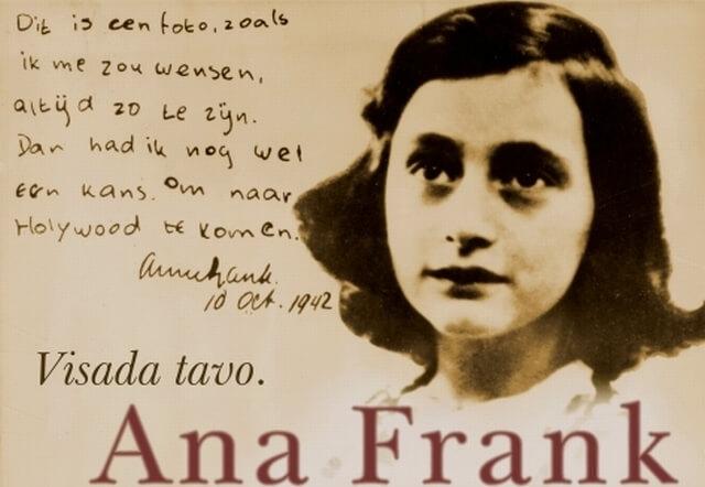 """VISADA TAVO. ANA FRANK"", F.Goodrich, A.Hacket"