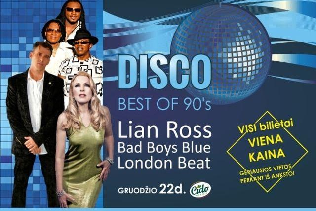 90-ųjų geriausieji: Lian Ross, Bad Boys Blue, LondonBeat