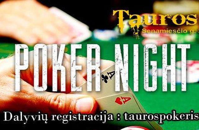 "Pokerio vakaras ""Tauros Lofte"""
