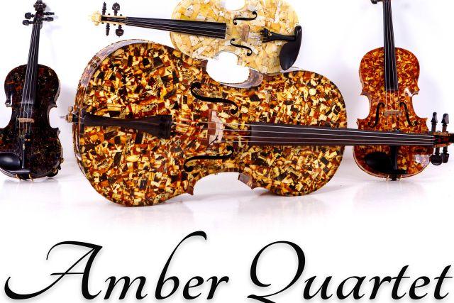 Amber kvartetas. Lietuvos virtuozai, grojantys styginiais instrumentais, pagamintais iš tikro gintaro
