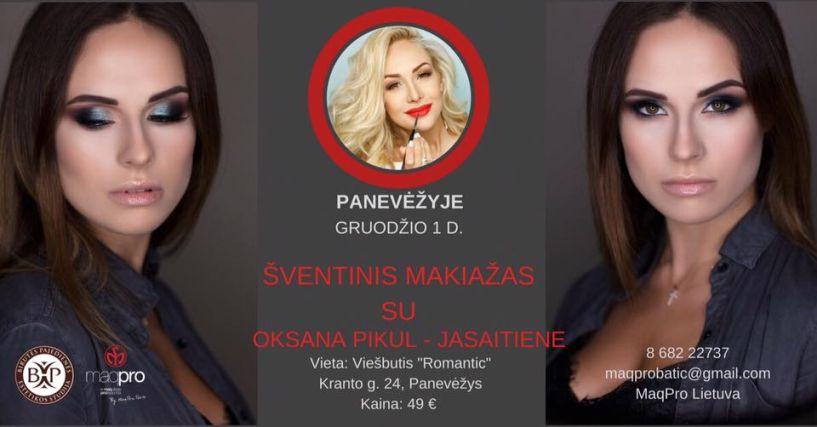 Šventinis makiažas su Oksana Pikul-Jasaitiene
