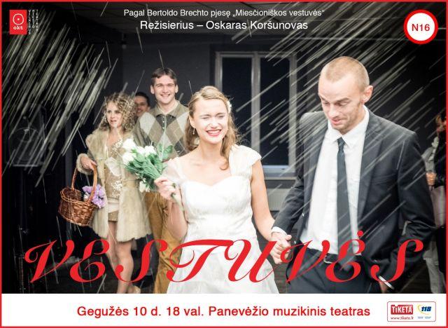 """Oskaro Koršunovo spektaklis """"Vestuvės"""""""