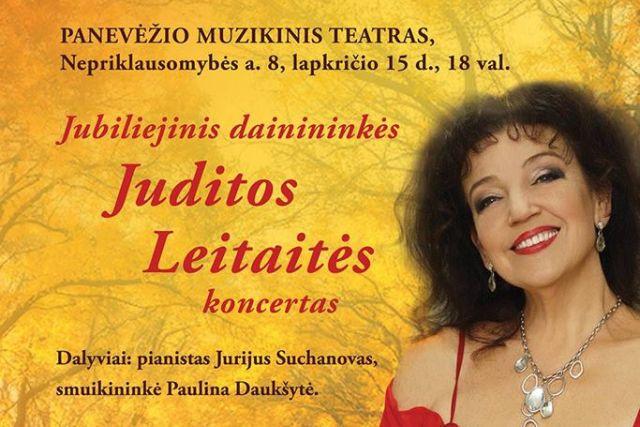 Jubiliejinis dainininkės Juditos Leitaitės koncertas